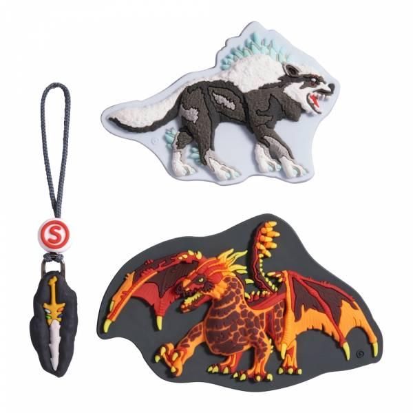 Step by Step Magic Mags Schleich 3-teilig Eldrador Lava Dragon - Magnet-Set