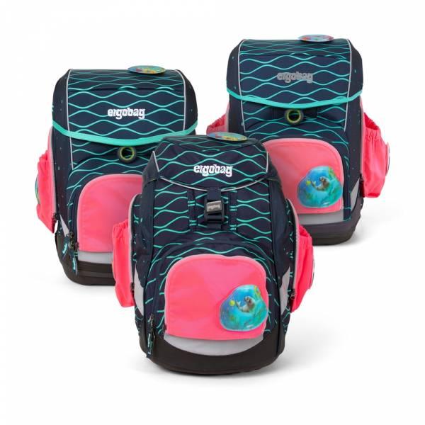 Ergobag Pack, Cubo, Cubo light Seitentaschen Zip-Set pink