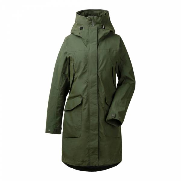 Didriksons Agnes Women's Coat 3 spruce green - Wintermantel