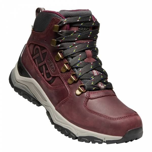 Keen Innate Leather Mid Wp Ltd Women burgundy/shark - Wanderstiefel