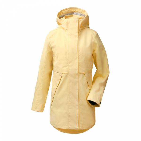 Didriksons Edith Women's Parka 2 light yellow - Regenmantel