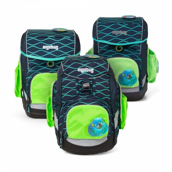 Ergobag Pack, Cubo, Cubo light Seitentaschen Zip-Set grün