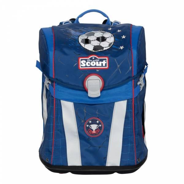 Scout Sunny Premium Schulranzen-Set 4-teilig Football