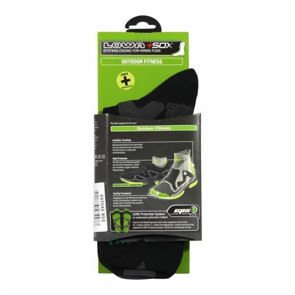 Lowa Outdoor Fitness-Socken schwarz/grau