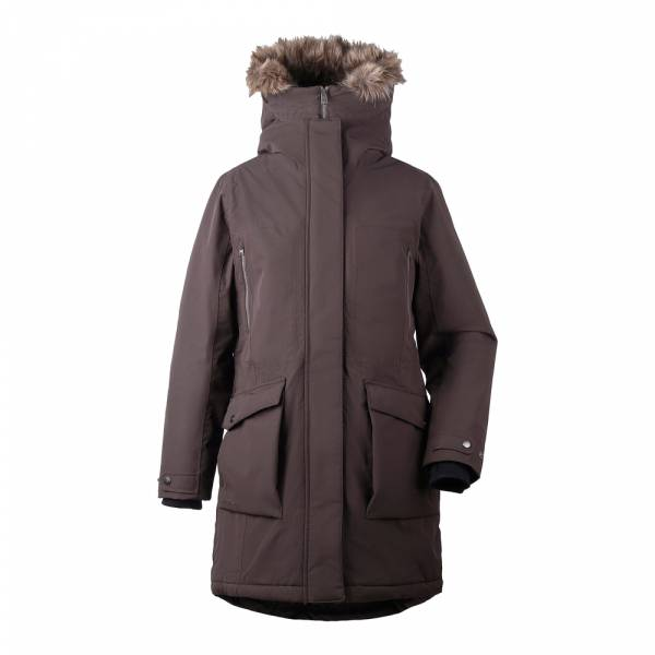 Didriksons Malou Women's Parka chocolate brown - Wintermantel