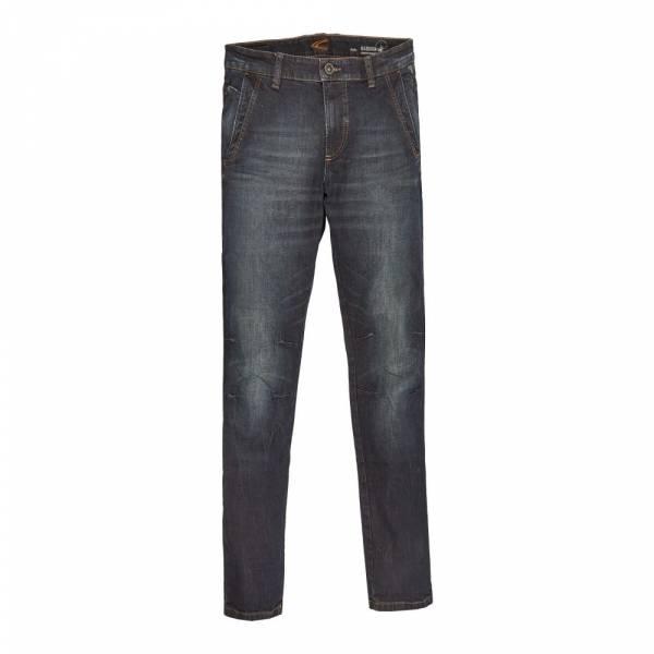 Camel Active 5-Pocket Worker 486415-8-56 dark blue/brown weft - Jeanshose