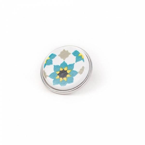 Noosa Chunk 097 Souk Tile turquoise/ white-ceramic