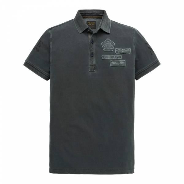 PME Legend Short Sleeve Polo Rugged Pique Pigment Grid - Poloshirt