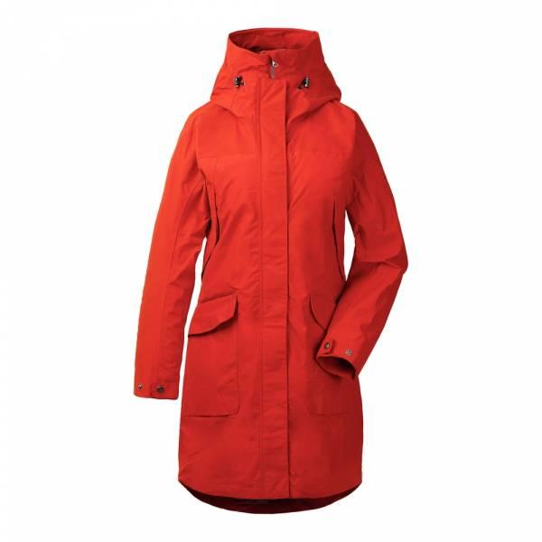 Didriksons Agnes Women's Coat 3 ember red - Regenmantel